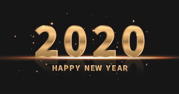 2020 с новым годом Premium векторы