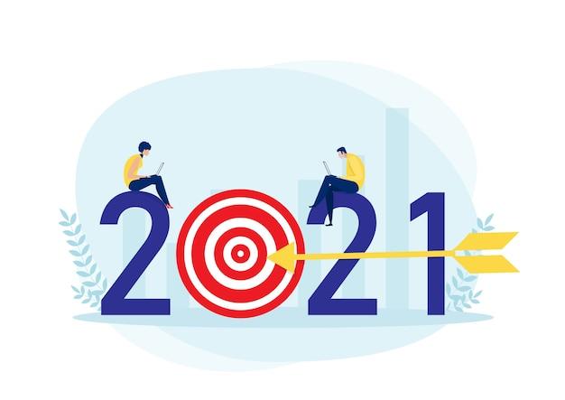 Бизнес-план на 2021 год и достижение цели Premium векторы