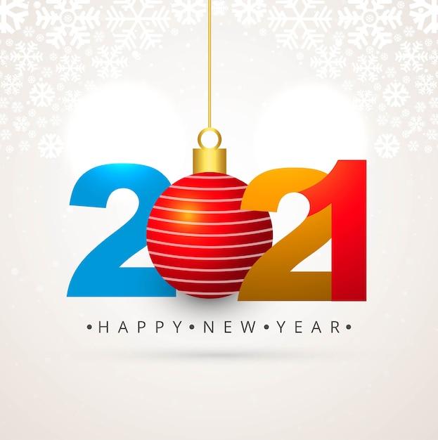 2021年のお祝いの休日の美しい背景 無料ベクター