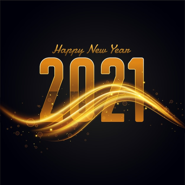 2021 с новым годом фон с золотой световой полосой Бесплатные векторы