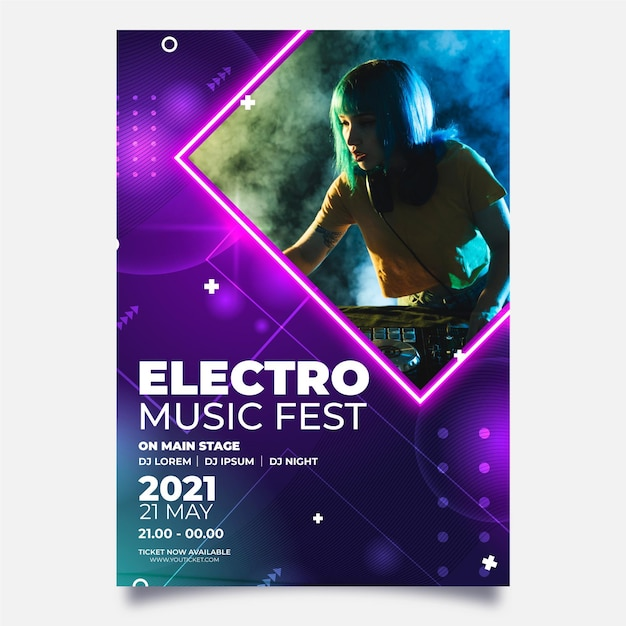 2021 музыкальная концепция Бесплатные векторы