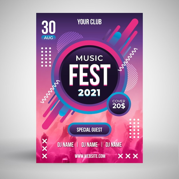2021 music event poster Free Vector