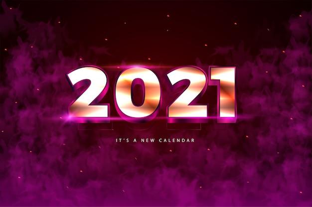 2021 새해 달력, 금 화려한 배경 템플릿의 휴일 그림 프리미엄 벡터