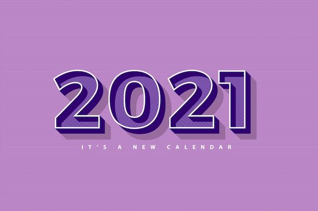 2021 새해 달력, 복고풍 보라색 화려한 배경 템플릿의 휴일 그림 프리미엄 벡터