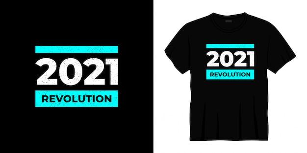 Революция 2021 года типографика дизайн футболки Premium векторы