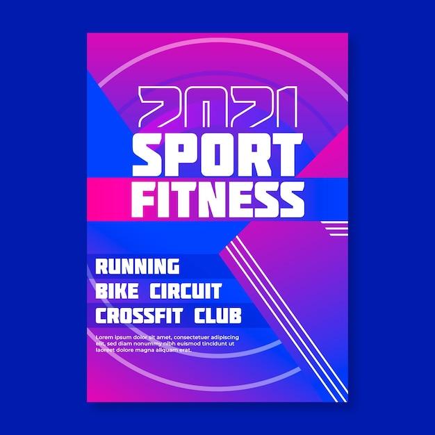 2021スポーツイベントポスターコンセプト Premiumベクター