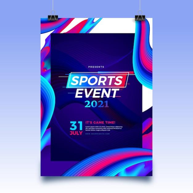 2021 스포츠 이벤트 포스터 템플릿 무료 벡터