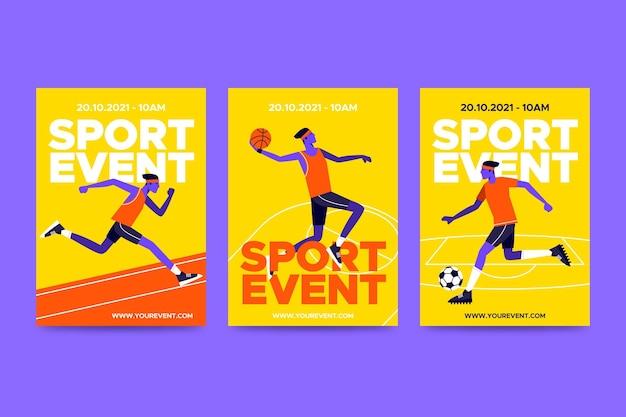 2021 poster di eventi sportivi Vettore gratuito