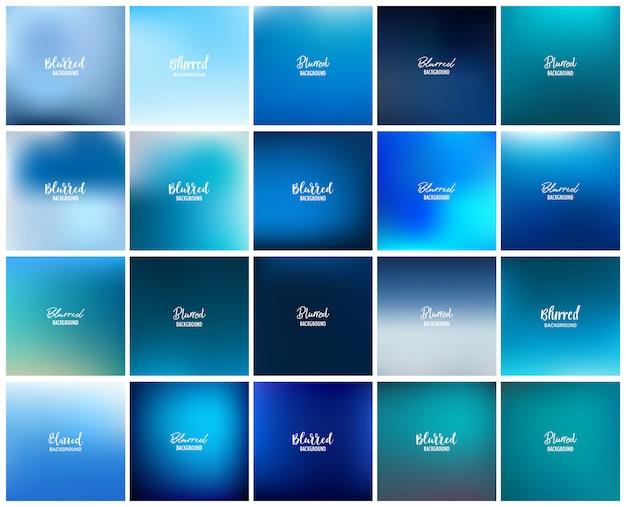 20 размытых абстрактного фона Premium векторы