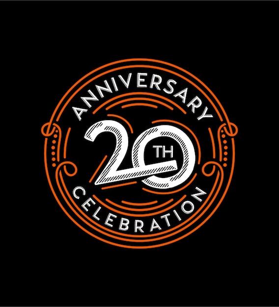 20周年記念アニバーサリー Premiumベクター