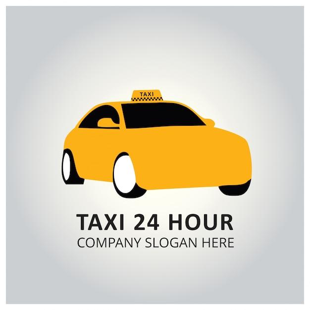 タクシーアイコンタクシーサービス24時間タクシーのポスター 無料ベクター