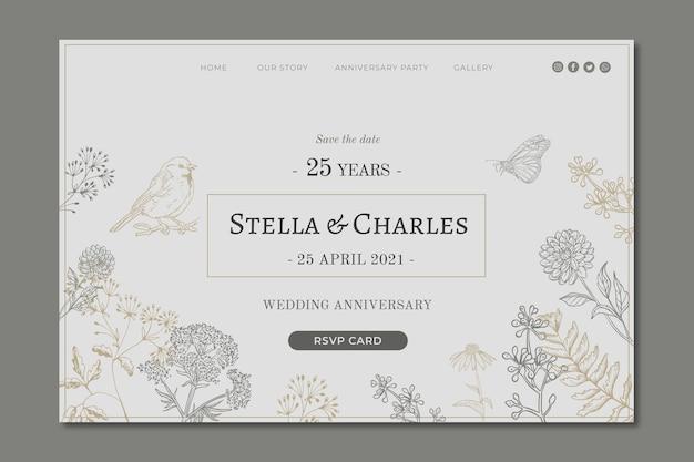 Целевая страница юбилея 25 лет Premium векторы
