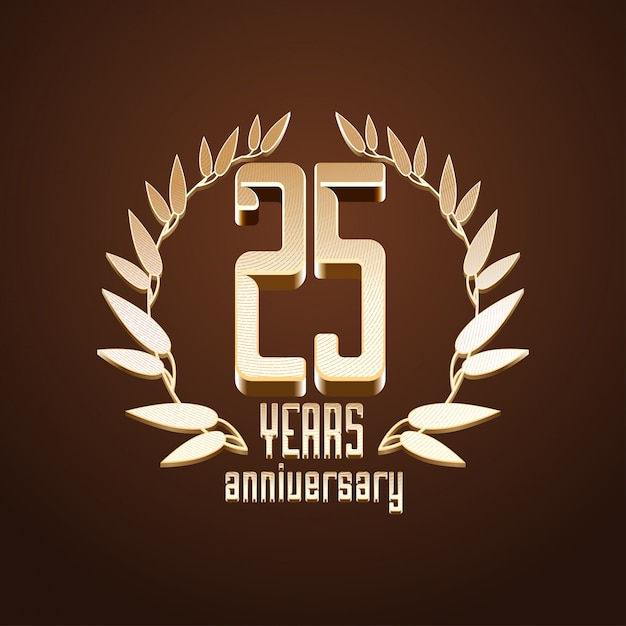 25 лет Premium векторы