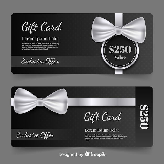 250$ gift card Free Vector
