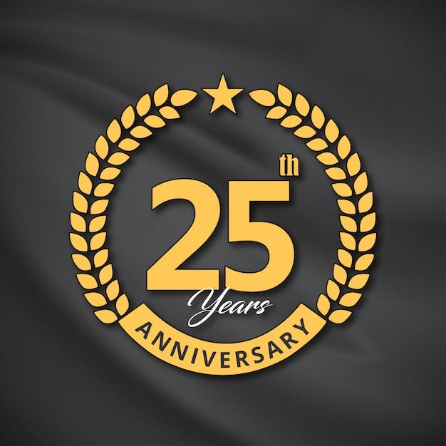 25年間のお祝いのベクトル Premiumベクター