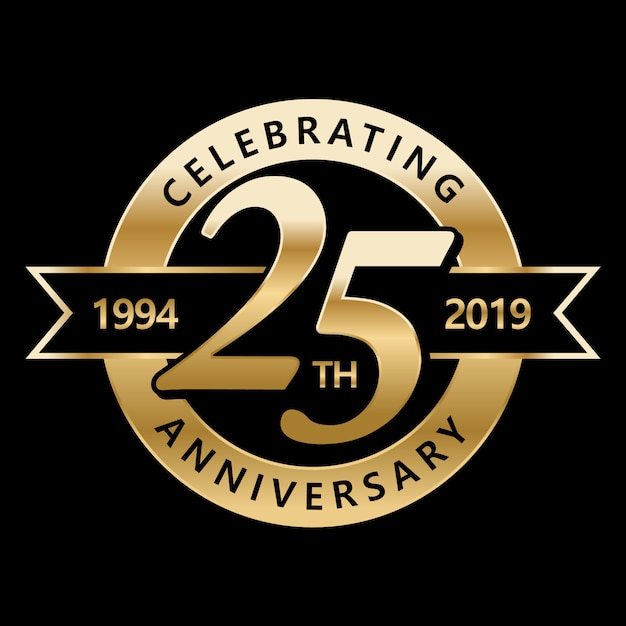 25周年記念を祝う Premiumベクター