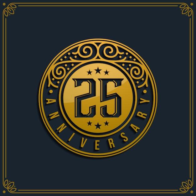 25周年記念誕生日 Premiumベクター