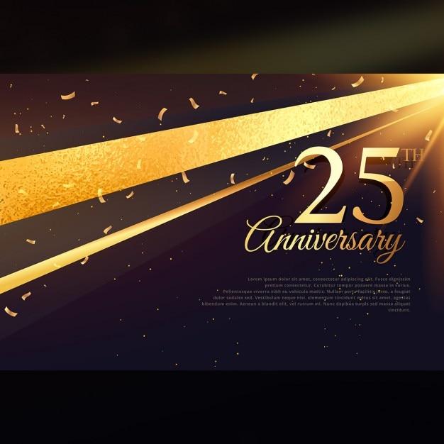 Шаблон празднования карты 25-летний юбилей Бесплатные векторы