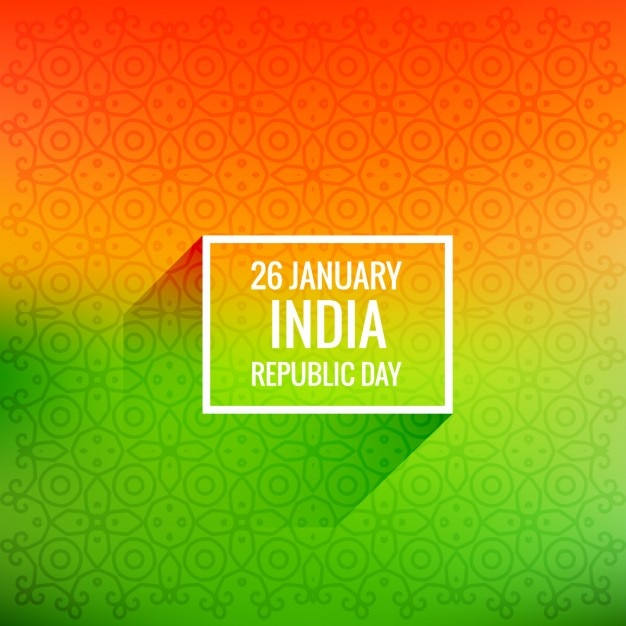 26 january republic day Free Vector