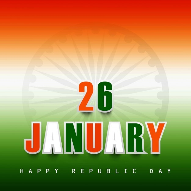 26 january tricolor background Free Vector