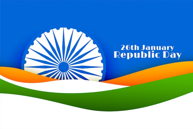 26th january happy republic day of india Free Vector