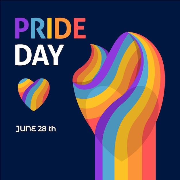 28 июня флаг дня гордости Бесплатные векторы