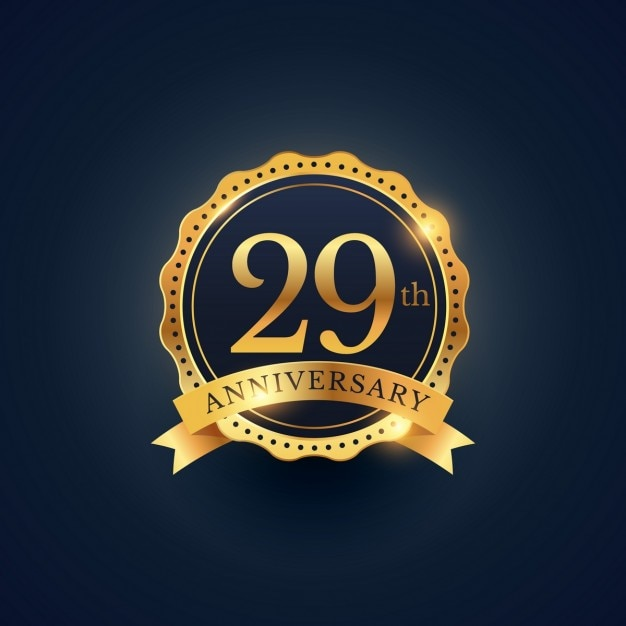 29th Anniversary Golden Edition Vector Free Download