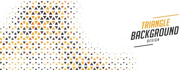 2つの色のデザインで抽象的な小さな三角形バナー 無料ベクター