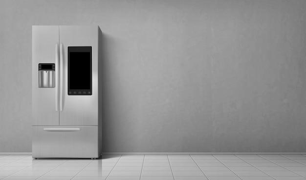 スマート冷蔵庫2室冷蔵庫の正面図 無料ベクター