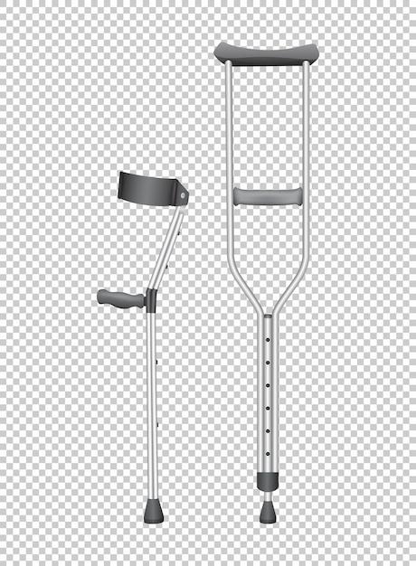 身体障害者用の2本の杖 無料ベクター