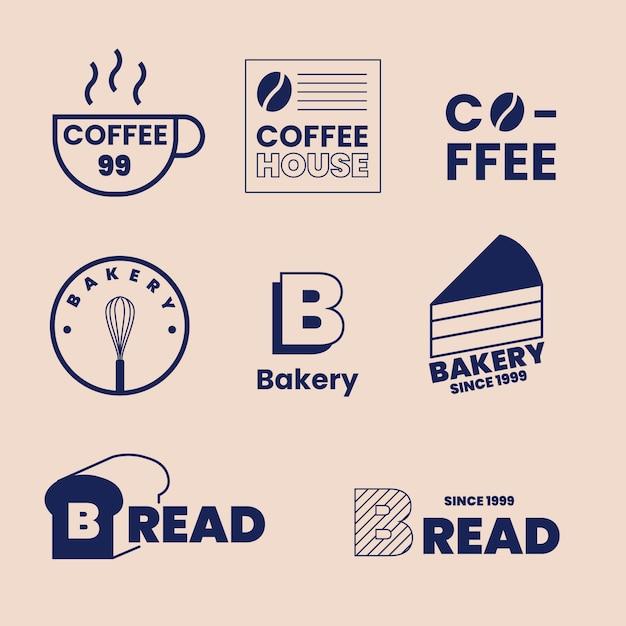 2色の最小限のロゴ要素コレクション 無料ベクター