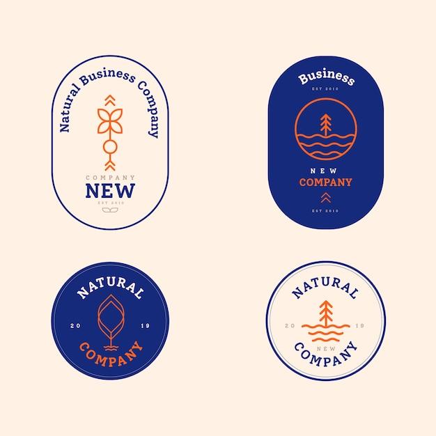 2色のロゴコレクション 無料ベクター