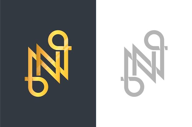 2つのバージョンのゴールデンスタイルのロゴ 無料ベクター