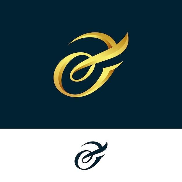 2つのバージョンの抽象的な黄金ロゴ 無料ベクター
