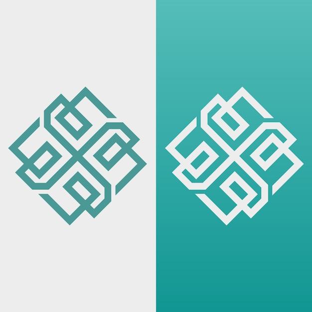 2つのバージョンの抽象的なロゴ 無料ベクター