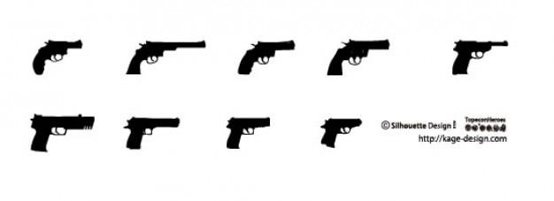 拳銃2 無料ベクター