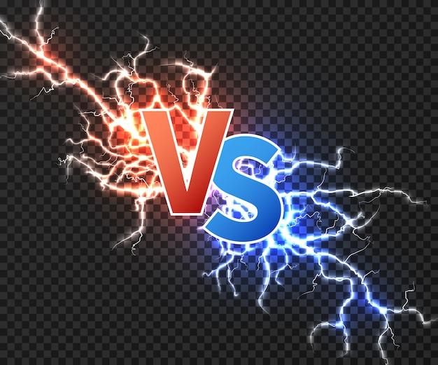 2つの放電の衝突を伴うイラストと。 Premiumベクター