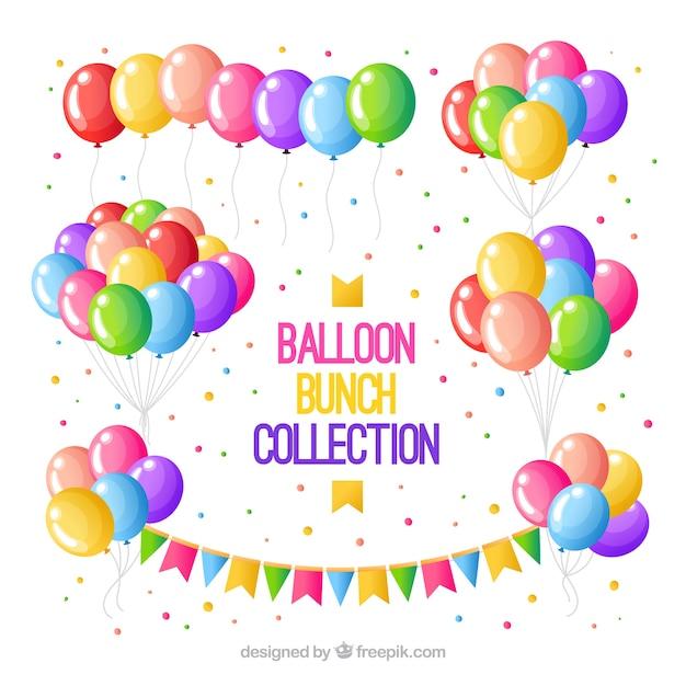 Коллекция разноцветных шариков в стиле 2d Бесплатные векторы