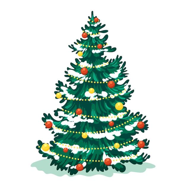 2d рождественская елка Бесплатные векторы