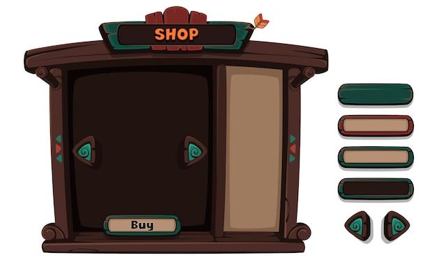 Набор элементов пользовательского интерфейса для 2d игр и приложений Premium векторы