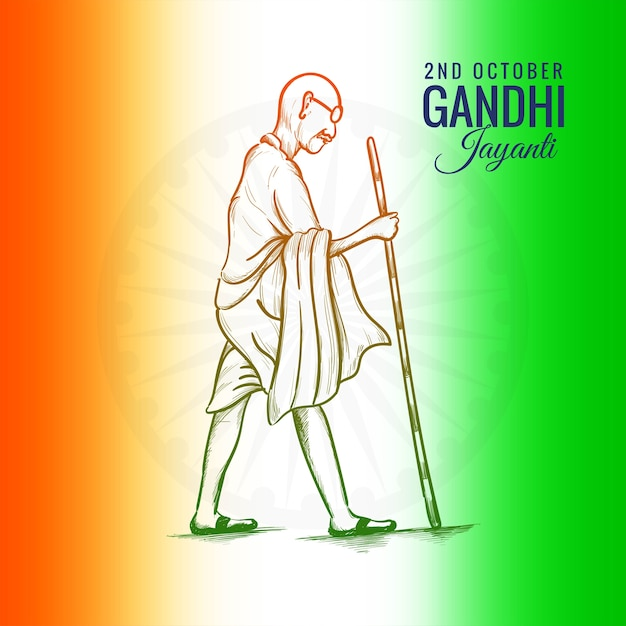 2nd october gandhi jayanti for creative poster celebrated Free Vector