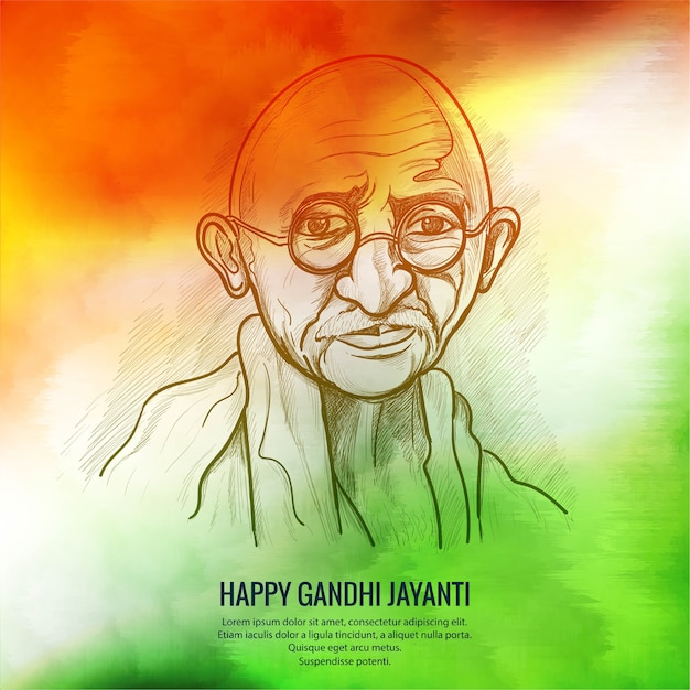 2nd october gandhi jayanti with nice and beautiful poster Free Vector