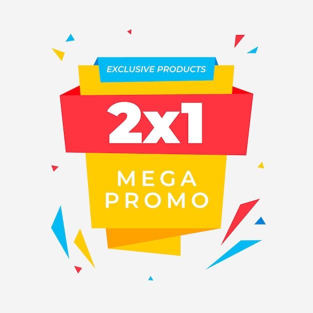 Рекламный баннер 2x1 Бесплатные векторы