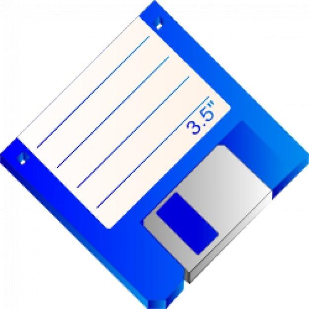 3 5 floppy disk blue labelled vector free download. Black Bedroom Furniture Sets. Home Design Ideas