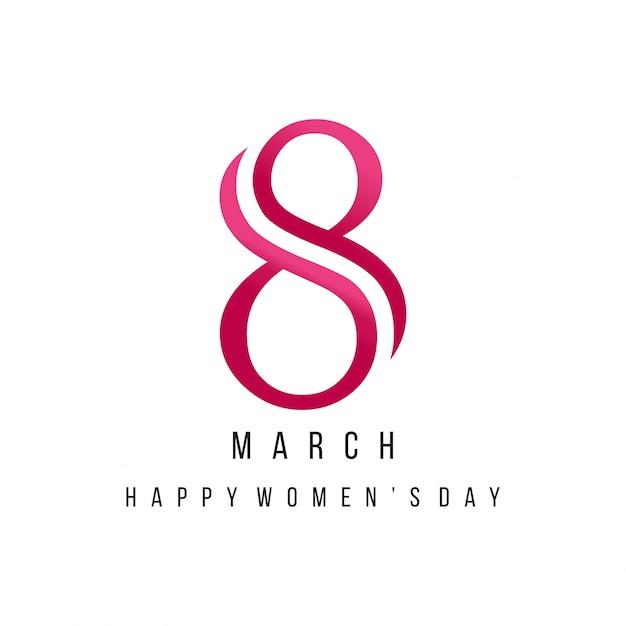 3月8日、女性の日クリエイティブレタリング 無料ベクター