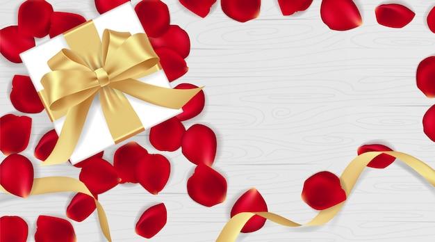 3月8日幸せな女性の日とバレンタインの日のバナー。 Premiumベクター