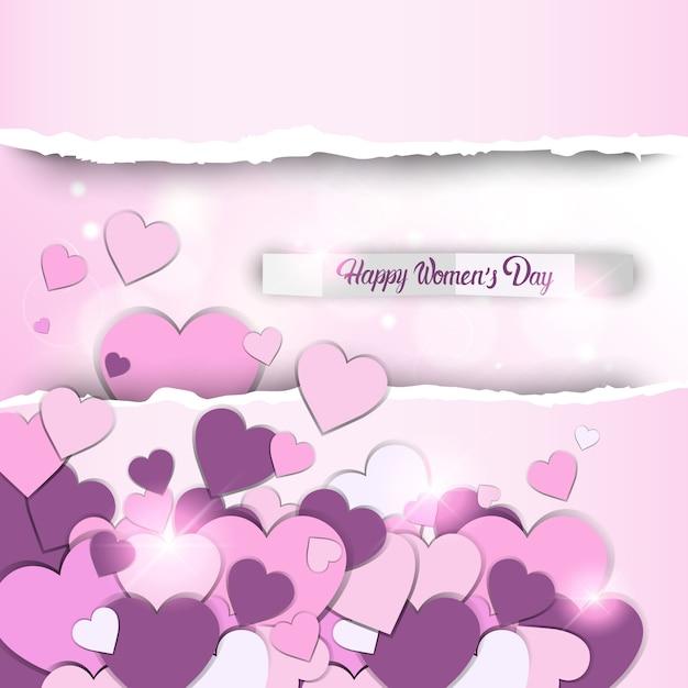 3月8日国際女性の日グリーティングカード Premiumベクター