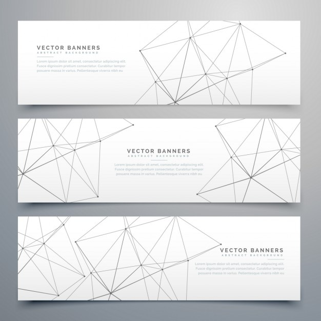 3 banners, technological style Free Vector