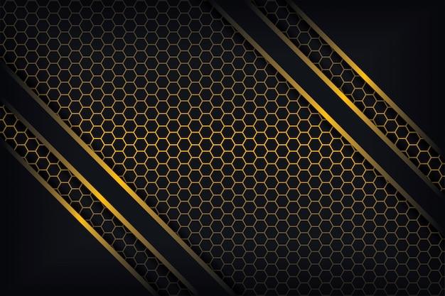 3 dスタイルの発光ポリゴンの組み合わせで抽象的な3 d背景。 Premiumベクター