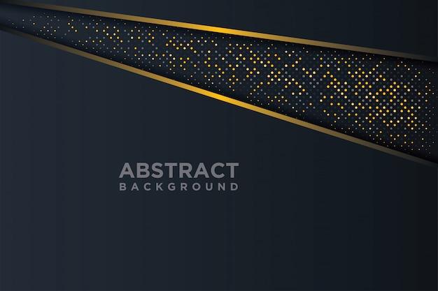 3 dスタイルの輝くドットの組み合わせで抽象的な3 d背景。 Premiumベクター